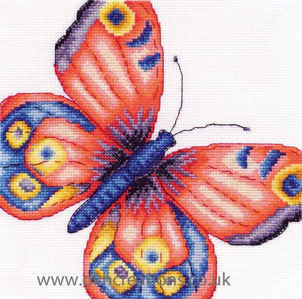 Peacock Butterfly Cross Stitch Kit